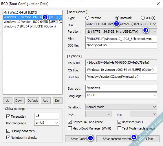Sửa menu boot BCD cài win bằng anhdv boot 4