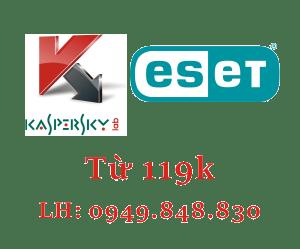 Phần mềm diệt Virus bản quyền ESET Kaspersky