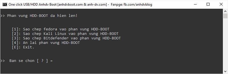 Hiện phân vùng ẩn của HDD Boot Anhdv Boot 2020