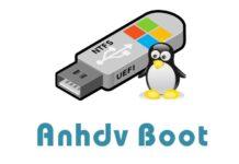 Tạo usb boot phân vùng ẩn với 1 click Anhdv Boot 2020