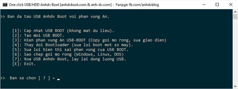 Bản quản lý usb Anhdv Boot 2020