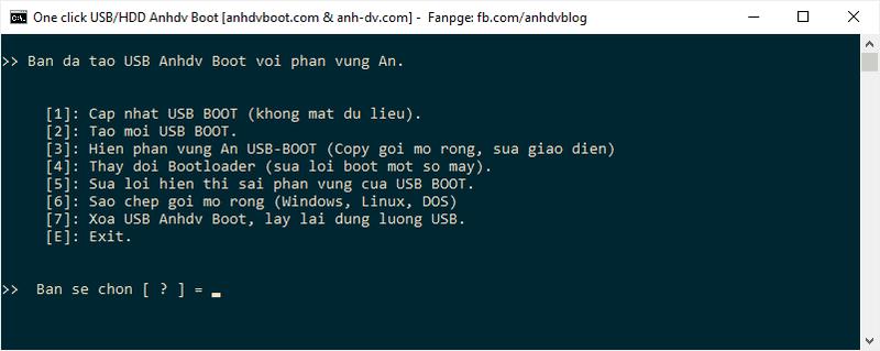Quản lý USB Anhdv Boot 2020