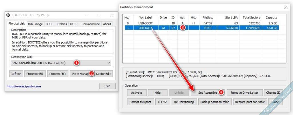Khắc phục lỗi không cài được Windows khi tích hợp vào usb Anhdv Boot